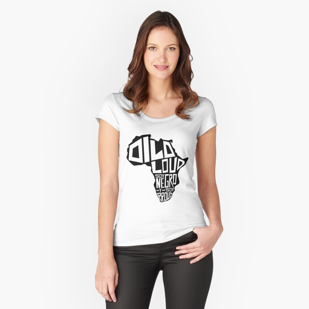 DILO LOUD: Africa Third Culture Series Fitted Scoop T-Shirt