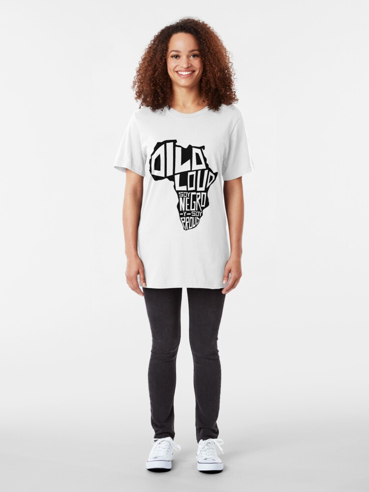 Alternate view of DILO LOUD: Africa Third Culture Series Slim Fit T-Shirt