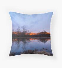 Winter Morning at Cove Lake Throw Pillow