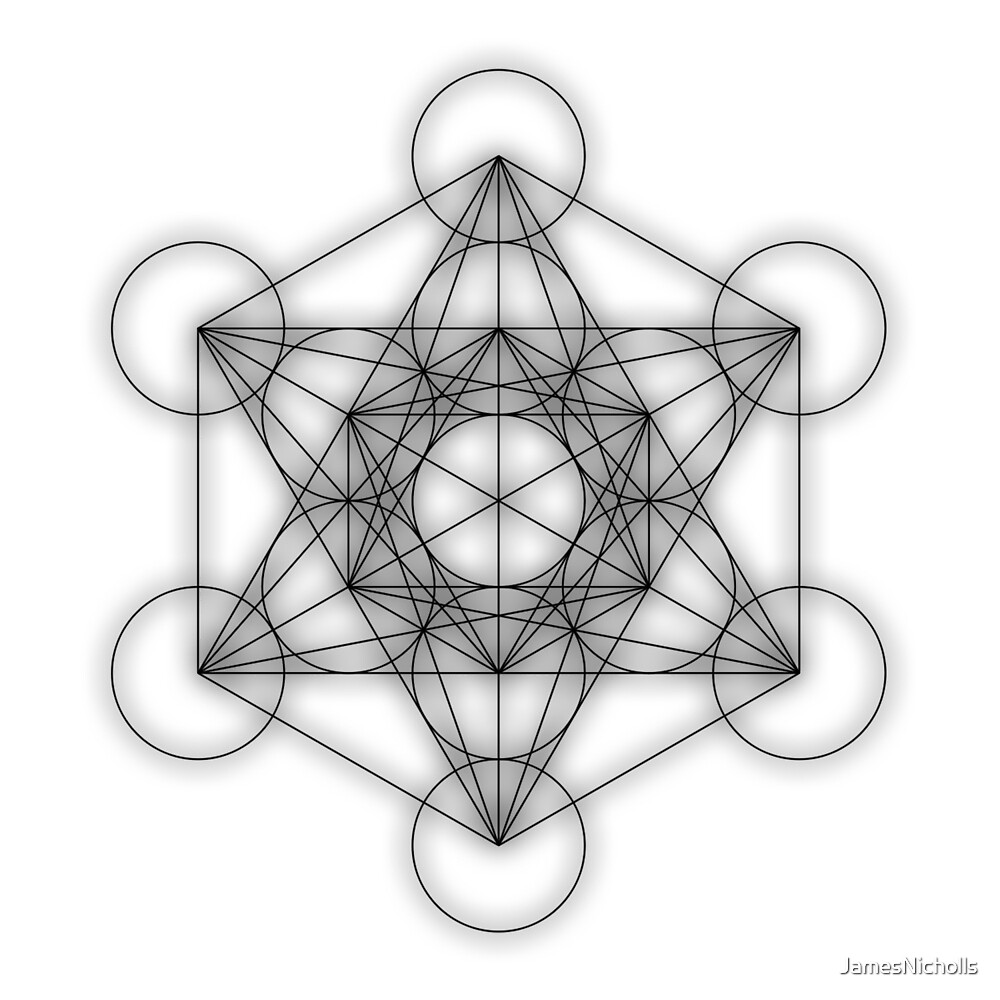 Metatron cube - black by JamesNicholls