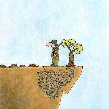 Go Green, Save The Trees Cartoon by shirguppi