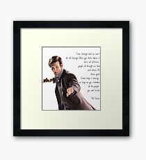 11th Doctor's Quote Framed Print