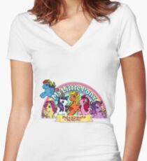 Vintage friendship is magic. Women's Fitted V-Neck T-Shirt