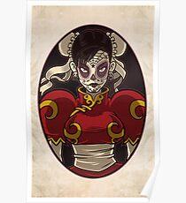 Chun Li Skull Girl Poster