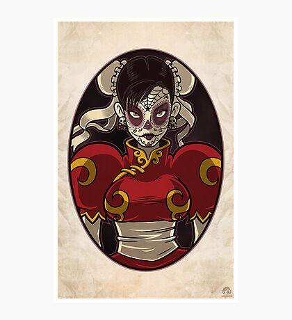 Chun Li Skull Girl Photographic Print