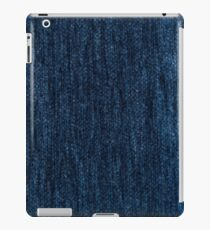 Blue fabric iPad Case/Skin