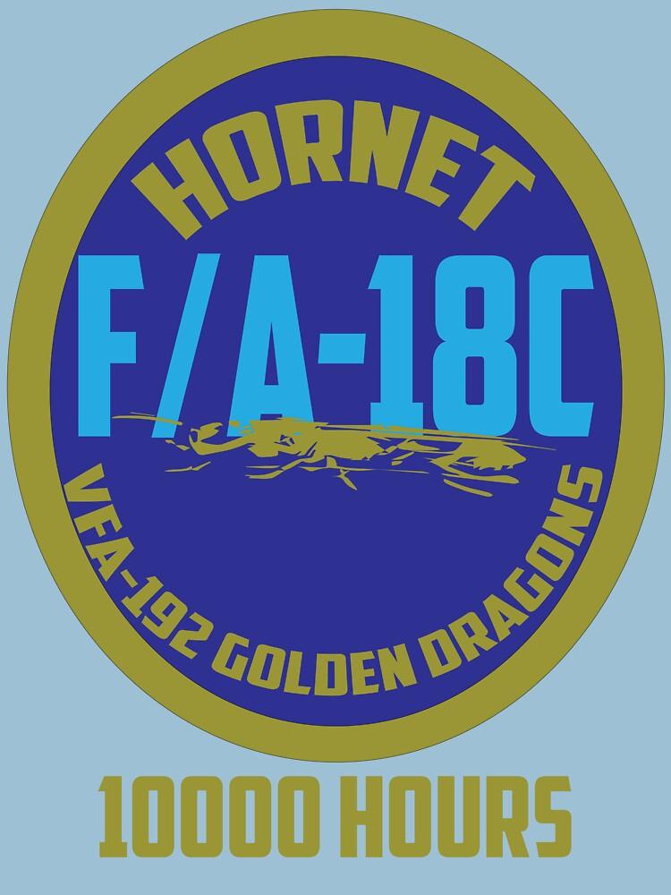 Hornet VFA-192 Golden Dragons by zekret