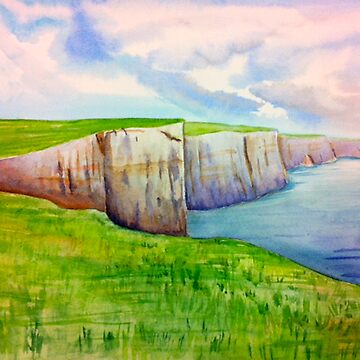 Cliffs of Moher Watercolor by uttendorferarts