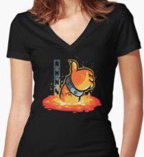 I'll be back Women's Fitted V-Neck T-Shirt