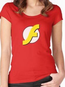It Runs Like a Flash on DDR4 Women's Fitted Scoop T-Shirt