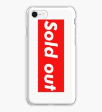 """Supreme """"Sold out"""" Case iPhone Case/Skin"""