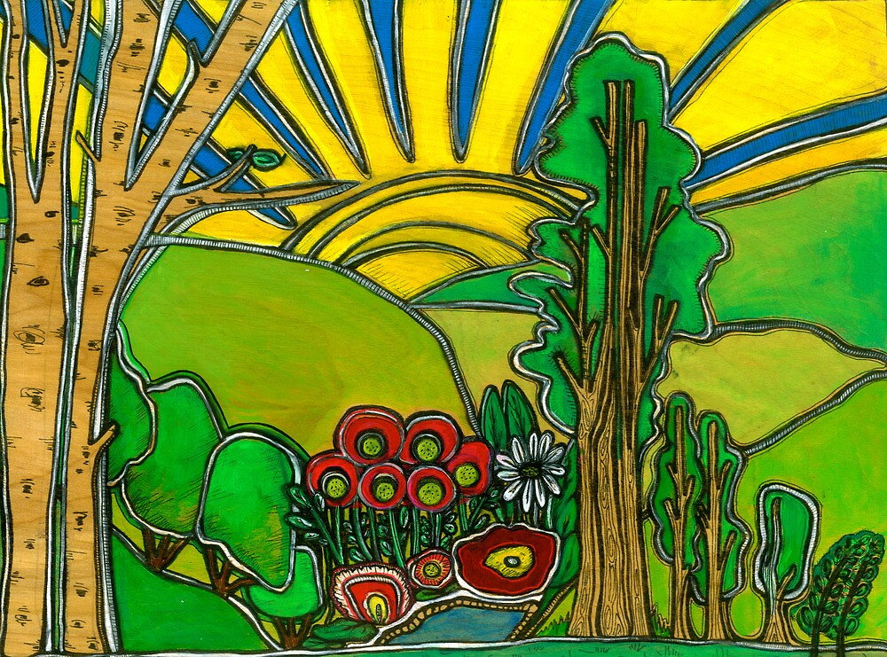 Sunshine Forest 3 of 4  by AndreaGordon