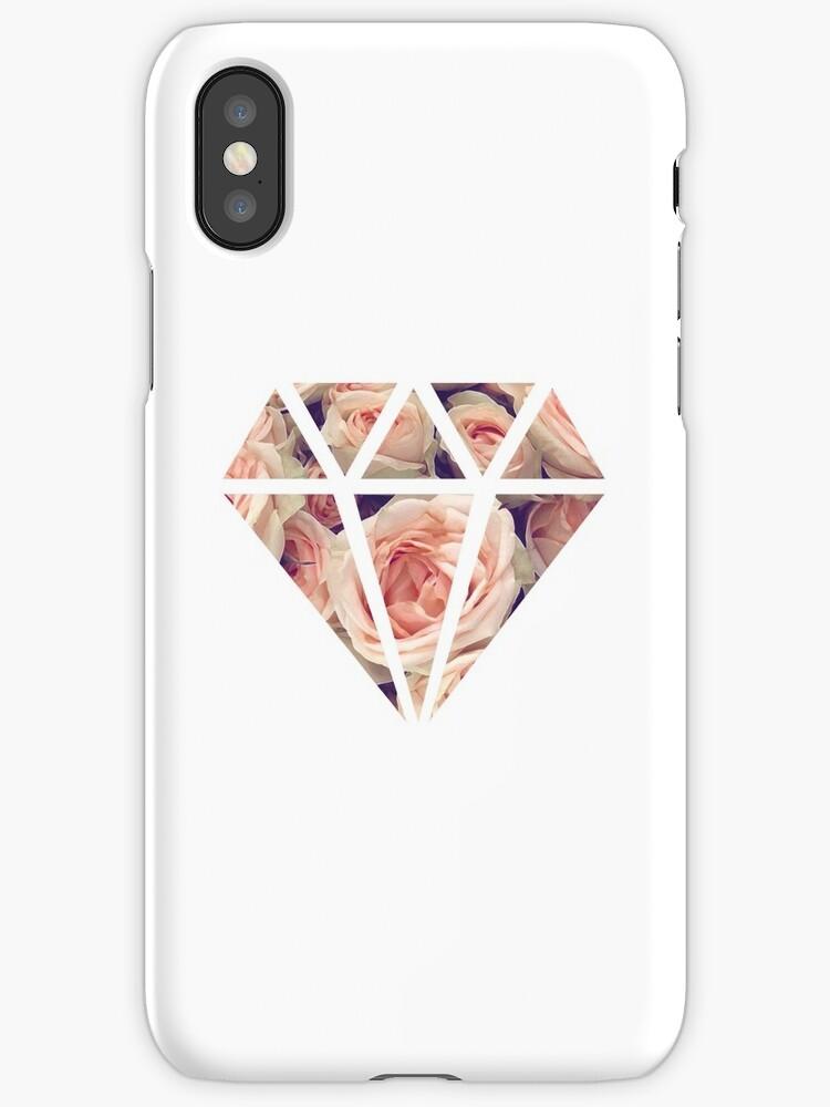 Diamond Rose Phone Case by borntokill