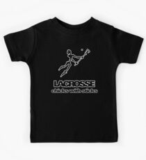 Lacrosse Chicks With Sticks Dark Kids Tee