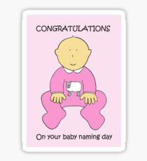 Congratulations on Baby Girl Naming Ceremony. Sticker