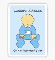Baby Naming Ceremony Congratulations for a Boy. Sticker