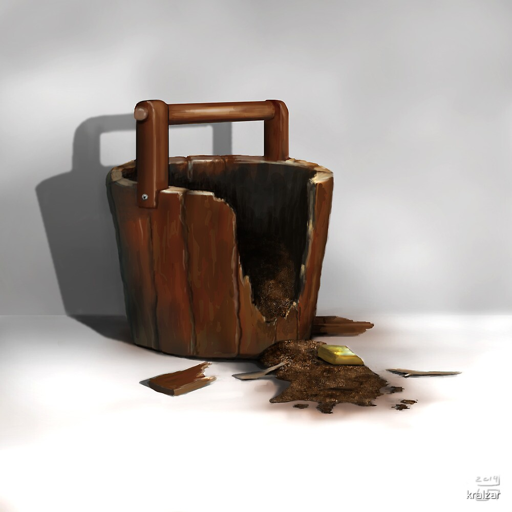 Wood Bucket by kralzar