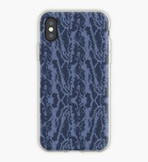 Blue Tiger Camo iPhone Case