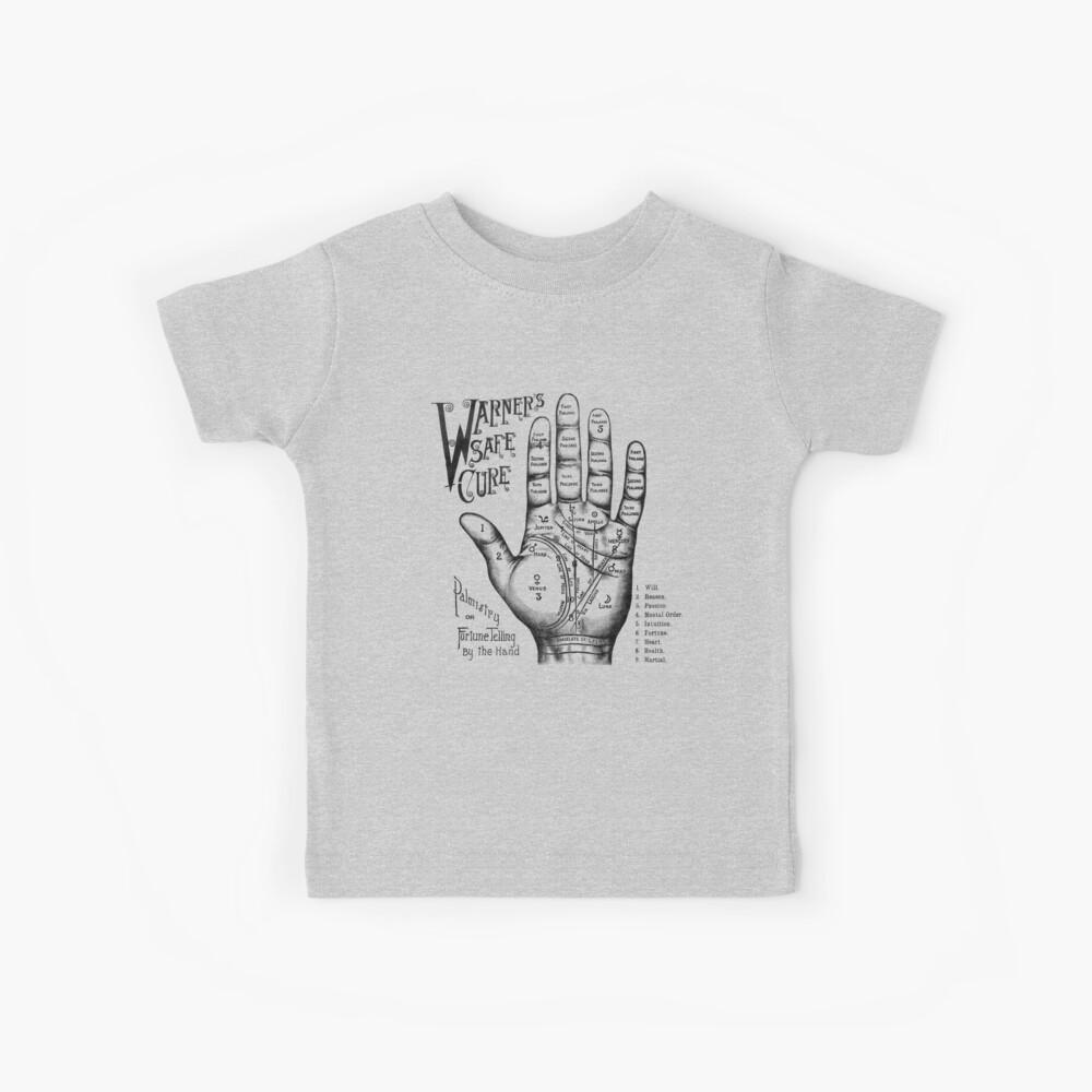 Palmreading - Vintage palmistry - Fortunetelling - NewAge - Tarot - Psychic Kids T-Shirt