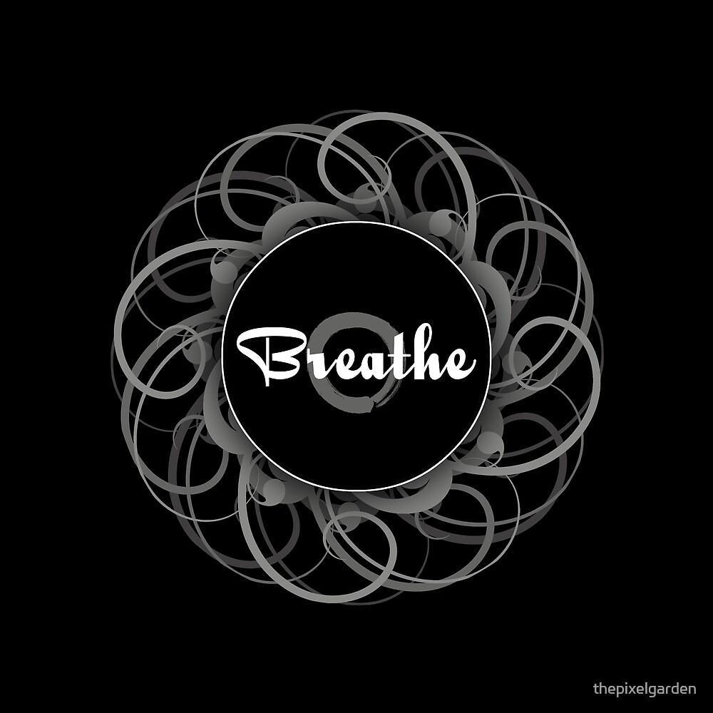 'Breathe' Zen Circle Print by thepixelgarden