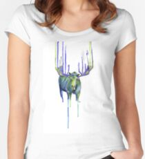 Moose Drip Trip Women's Fitted Scoop T-Shirt