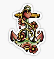 Traditional Anchor Tattoo Design Sticker