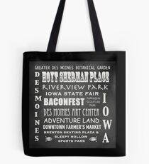Des Moines Famous Landmarks Tote Bag