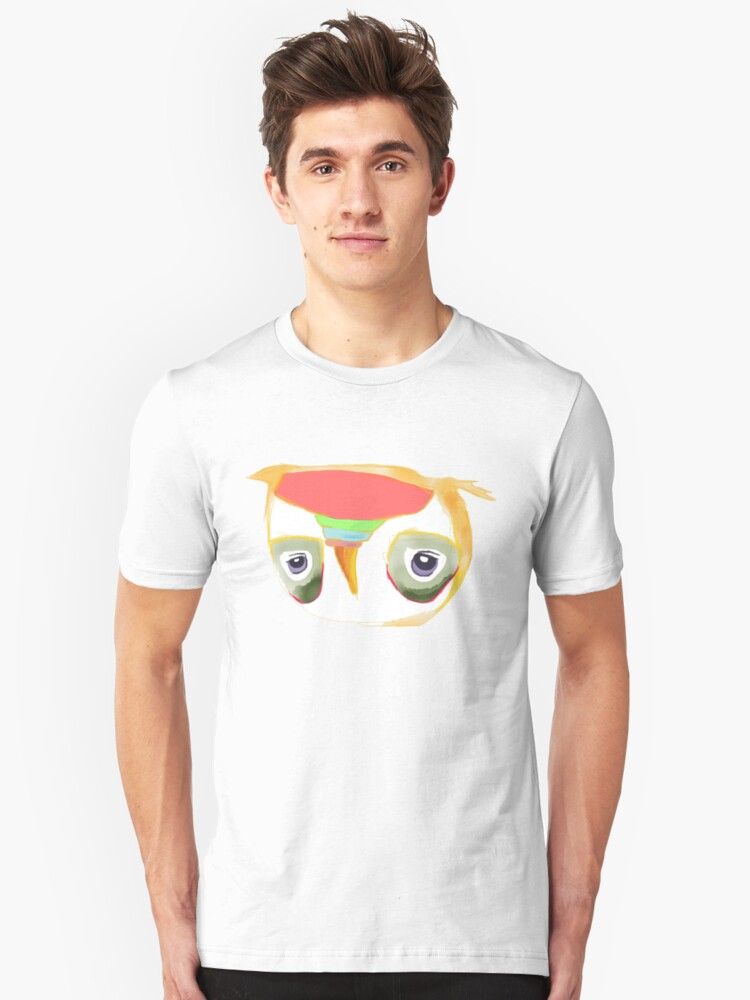 The Owl with Purple Eyes Unisex T-Shirt Front