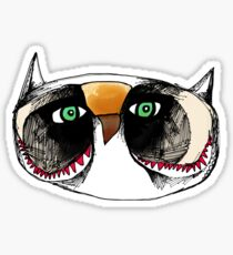 The Owl with Green Eyeballs Sticker
