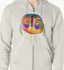 The Owl Who Looks Unimpressed Zipped Hoodie