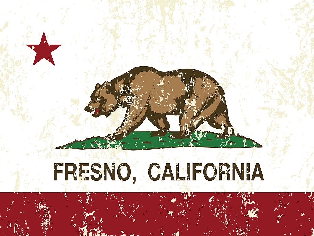 Fresno California Republic Flag Distressed by NorCal