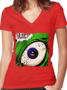 The Eye! Women's Fitted V-Neck T-Shirt