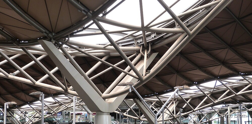 Looking Up! Spencer St. Railway Station, C.B.D. Melbourne. Vic. by Rita Blom