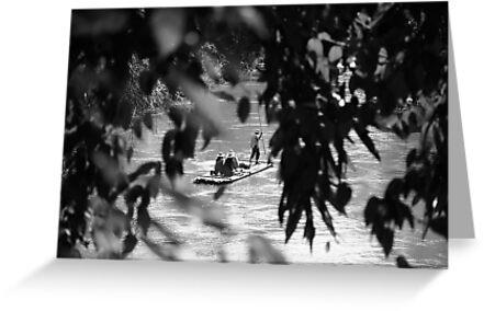Floating on Mekong River by DebWinfield