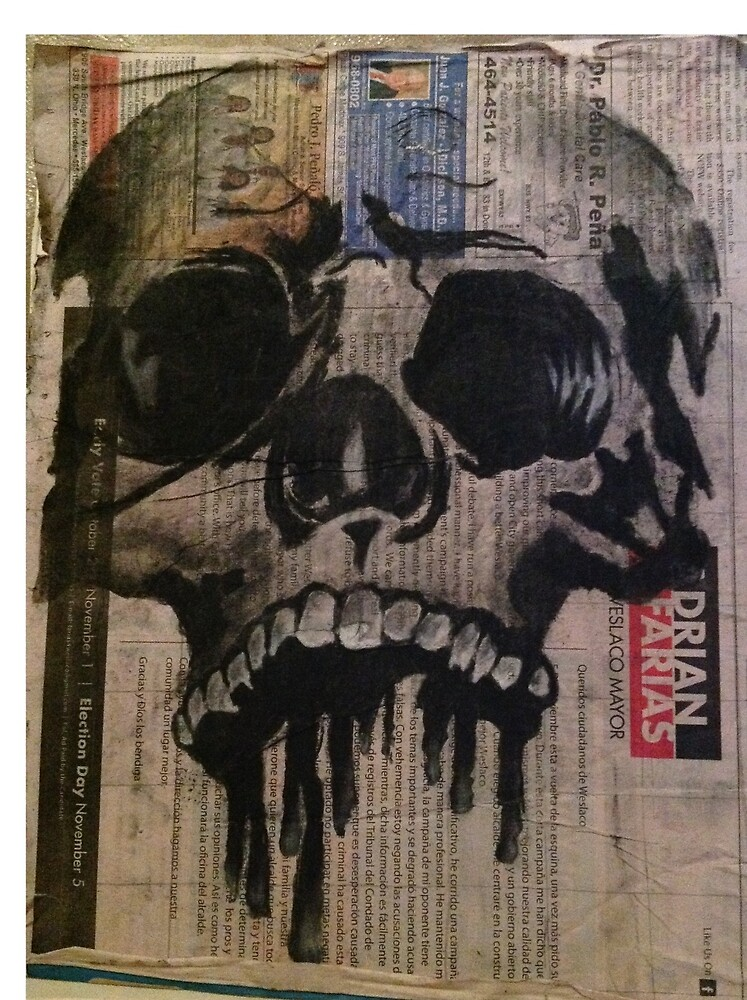 a skull painting by myartcollection