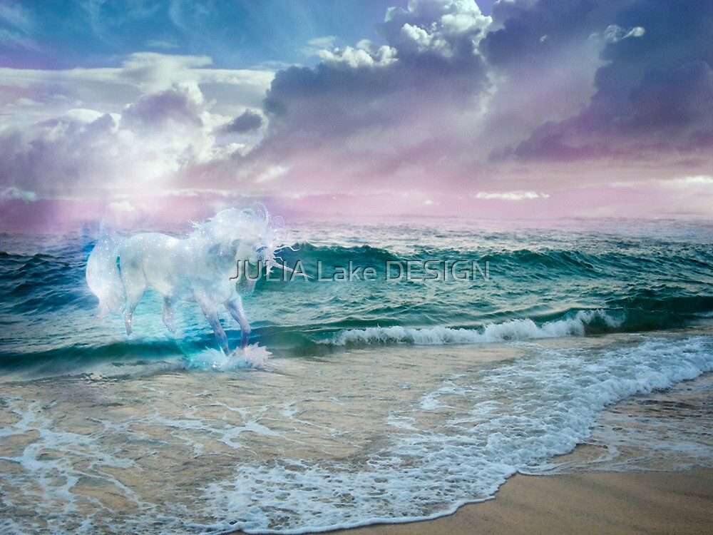 Unicorn in an Ocean by JULIA Lake DESIGN