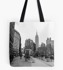 New York City streetscape Tote Bag