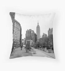 New York City streetscape Throw Pillow