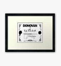 Donovan & Wells Framed Print