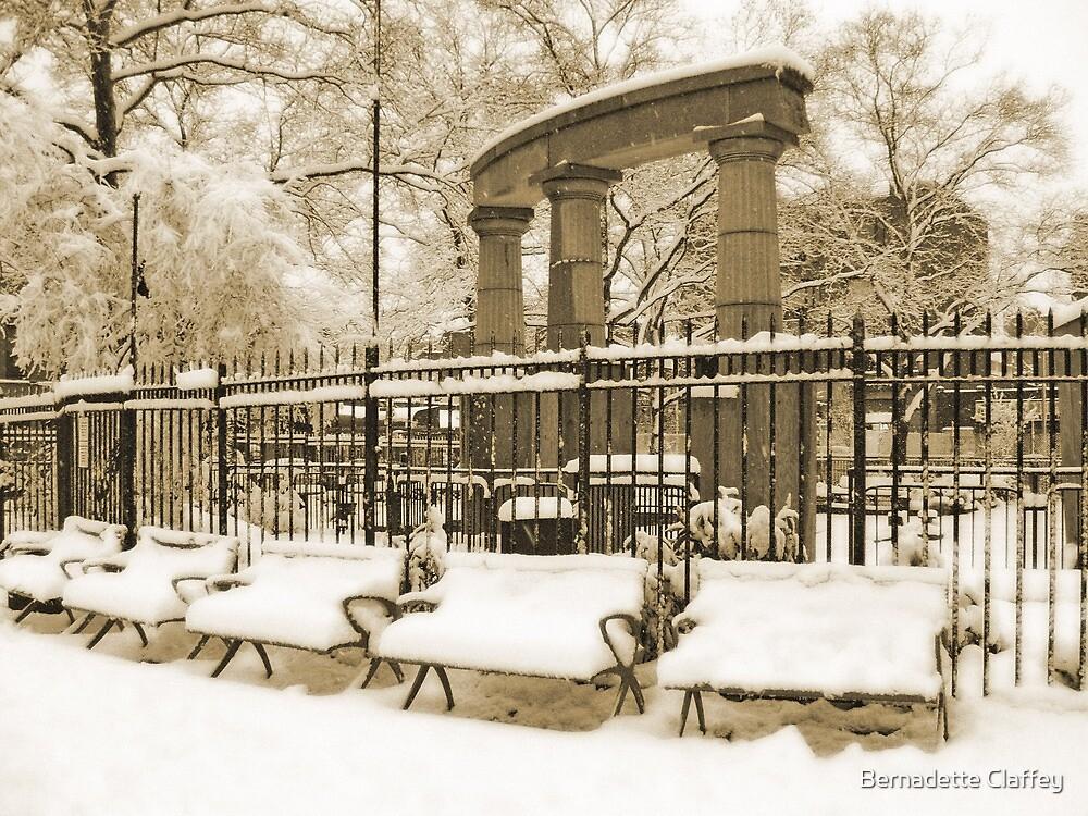 Athens Square Park, Astoria New York by Bernadette Claffey
