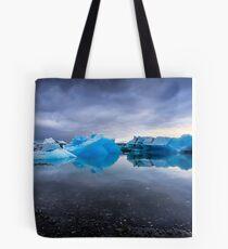 Sunset Lagoon: Glaciers at Jökulsárlón, Iceland Tote Bag