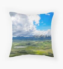 Peak of Mt. Bunsen, Yellowstone Natl. Park Throw Pillow