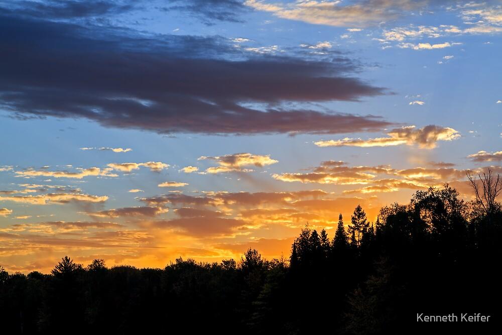 Sunrise Forest by Kenneth Keifer