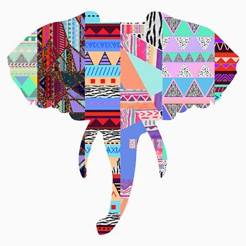 Elephant tribal print by tarawhyley