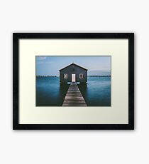 'Matilda Bay Boathouse' Framed Print