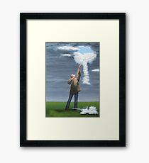 Cloud picker Framed Print