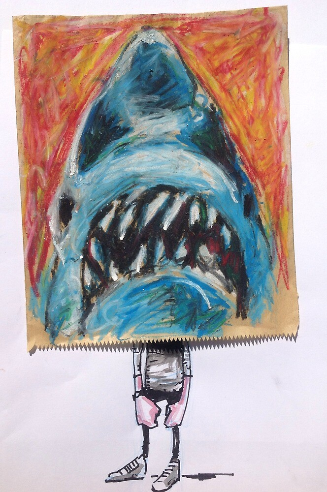 Paper Bag Jaws Head by Lukenotdave