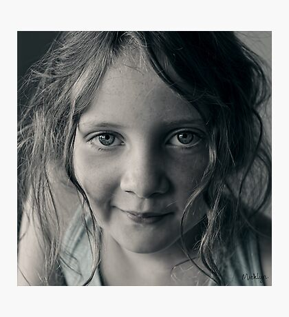 And then she smiled after all ... Photographic Print