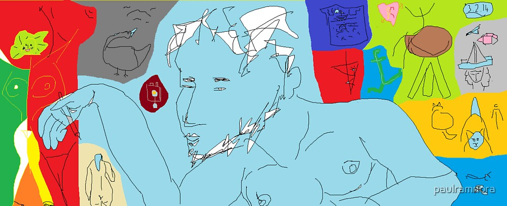 Paul, the artist -(030214)- Digital artwork/MS Paint by paulramnora