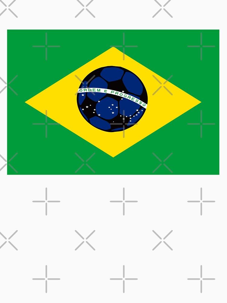Brazilian flag and football by funkyworm